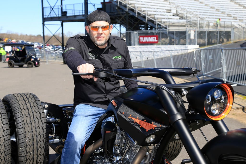 Image Credits: Getty Images / David John Griffin / Icon Sportswire | Grand Marshal Paul Teutul, Jr. prior to giving the command to the drivers to start their engines for the 21st running of the NASCAR Gander Outdoors Truck Series TruNorth Global 250 race on March 23, 2019 at the Martinsville Speedway in Martinsville, VA.