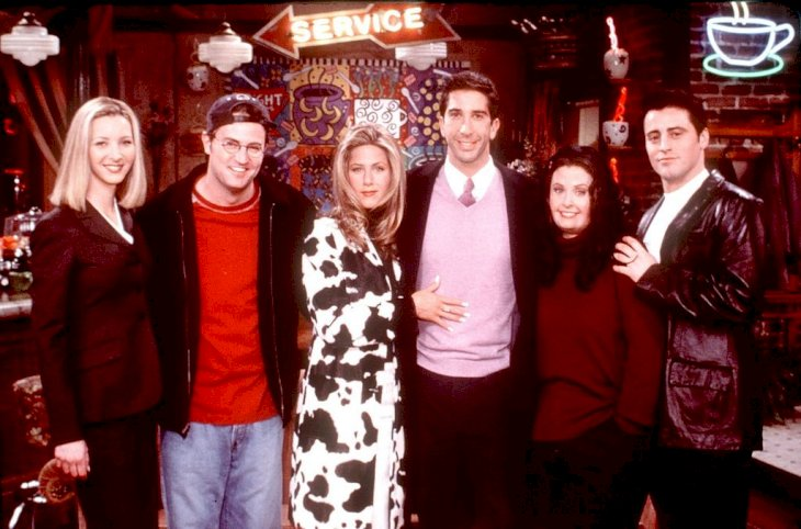 Image Credit: Getty Images / The cast of friends on the set of the hit series.
