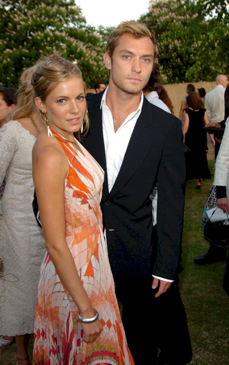 Image Credit: Getty Images/WireImage/Jon Furniss |Sienna Miller and Jude Law at the Serpentine Gallery