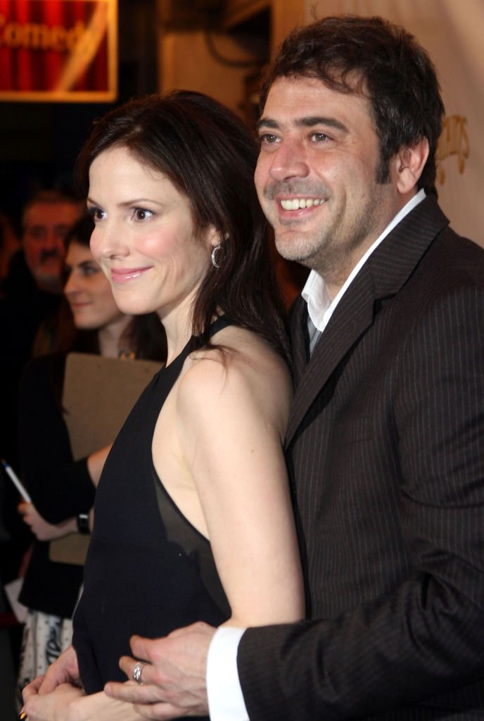 "Image Source: Getty Images/Bruce Glikas/Mary Louise Parker and Jeffrey Dean Morgan during ""Curtains"" Broadway Opening Night - Arrivals - March 22, 2007 at Hirschfeld Theatre in New York City, New York, United States"