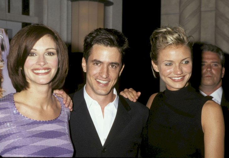 """My Best Friend's Wedding"" New York City Premiere Party Julia Roberts, Dermot Mulroney, and Cameron Diaz (Photo by Ron Galella, Ltd./Ron Galella Collection via Getty Images)"