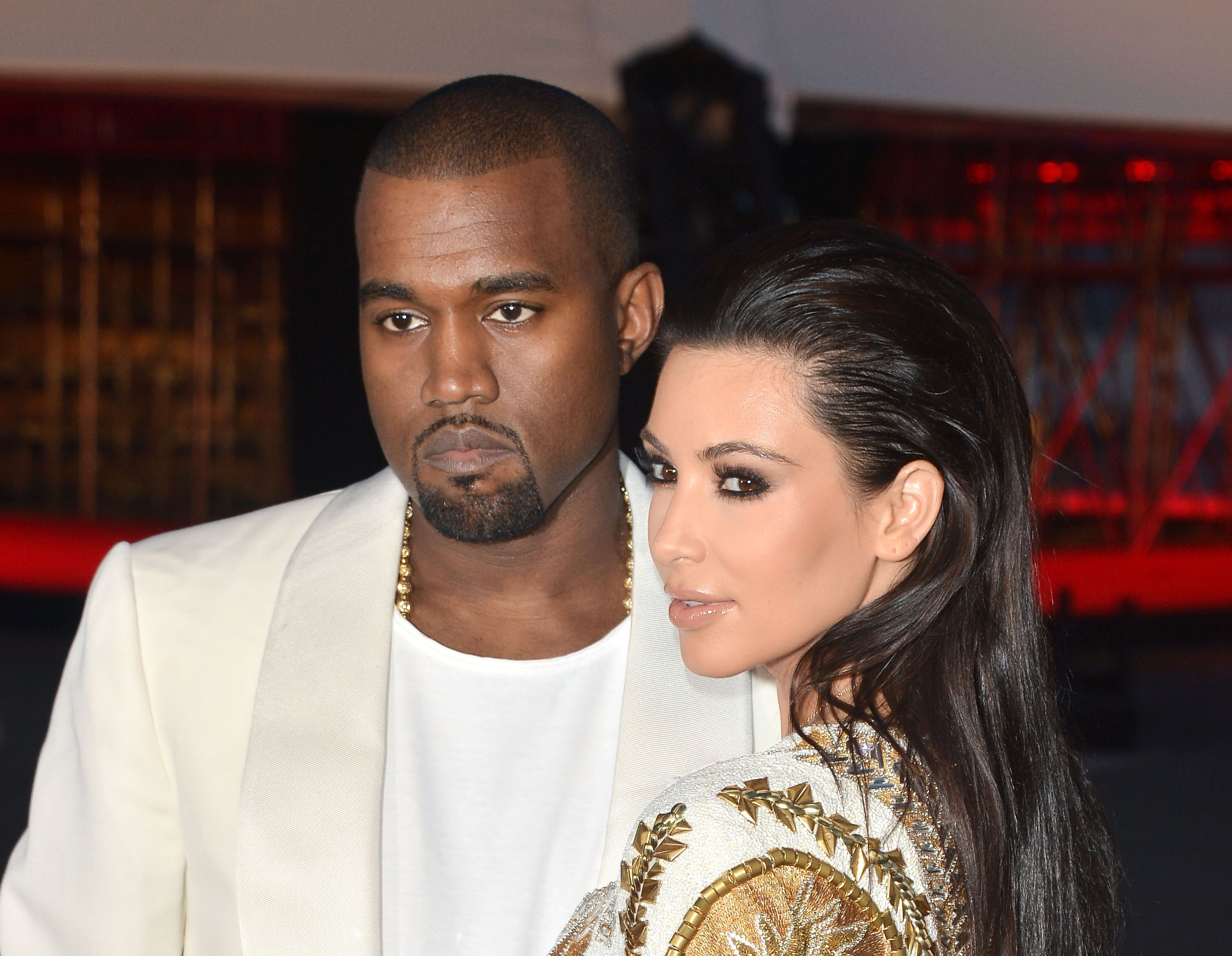 "Kanye West and Kim Kardashian attend the ""Cruel Summer"" Premiere / Getty Images"