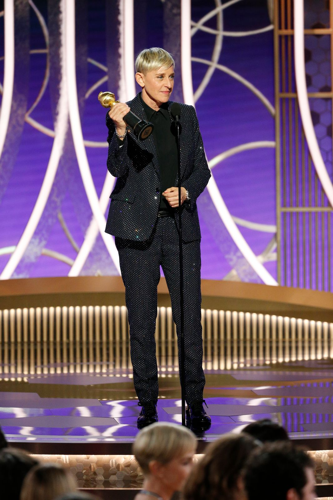 Ellen DeGeneres accepting an award at the 2020 Golden Globes/Photo:Getty Images