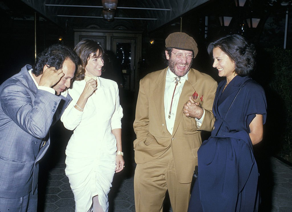 Image Credits: Getty Images / Ron Galella / Ron Galella Collection | Billy Crystal, Janice Crystal, Robin Williams and Marsha Williams.