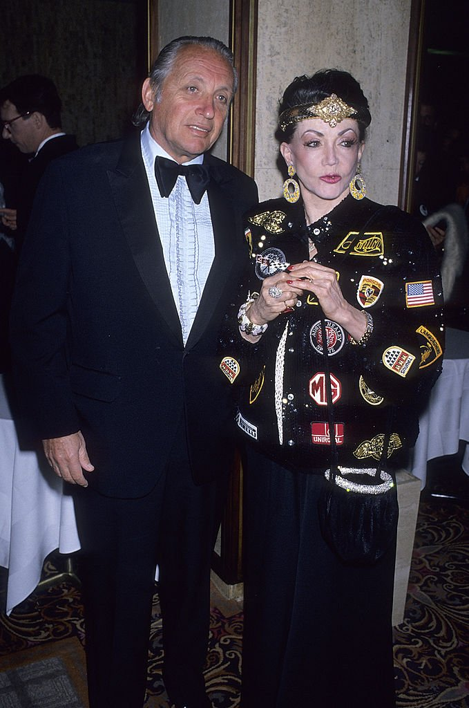 Image Credits: Getty Images / Ron Galella, Ltd. / Ron Galella Collection | Jackie Stallone and boyfriend Jack Rapoport attend the Womens Adoption International Fund's (WAIF) Fifth National Humanitarian Award Salute to Julie Andrews and Blake Edwards on February 8, 1989 at the Century Plaza Hotel in Century City, California.