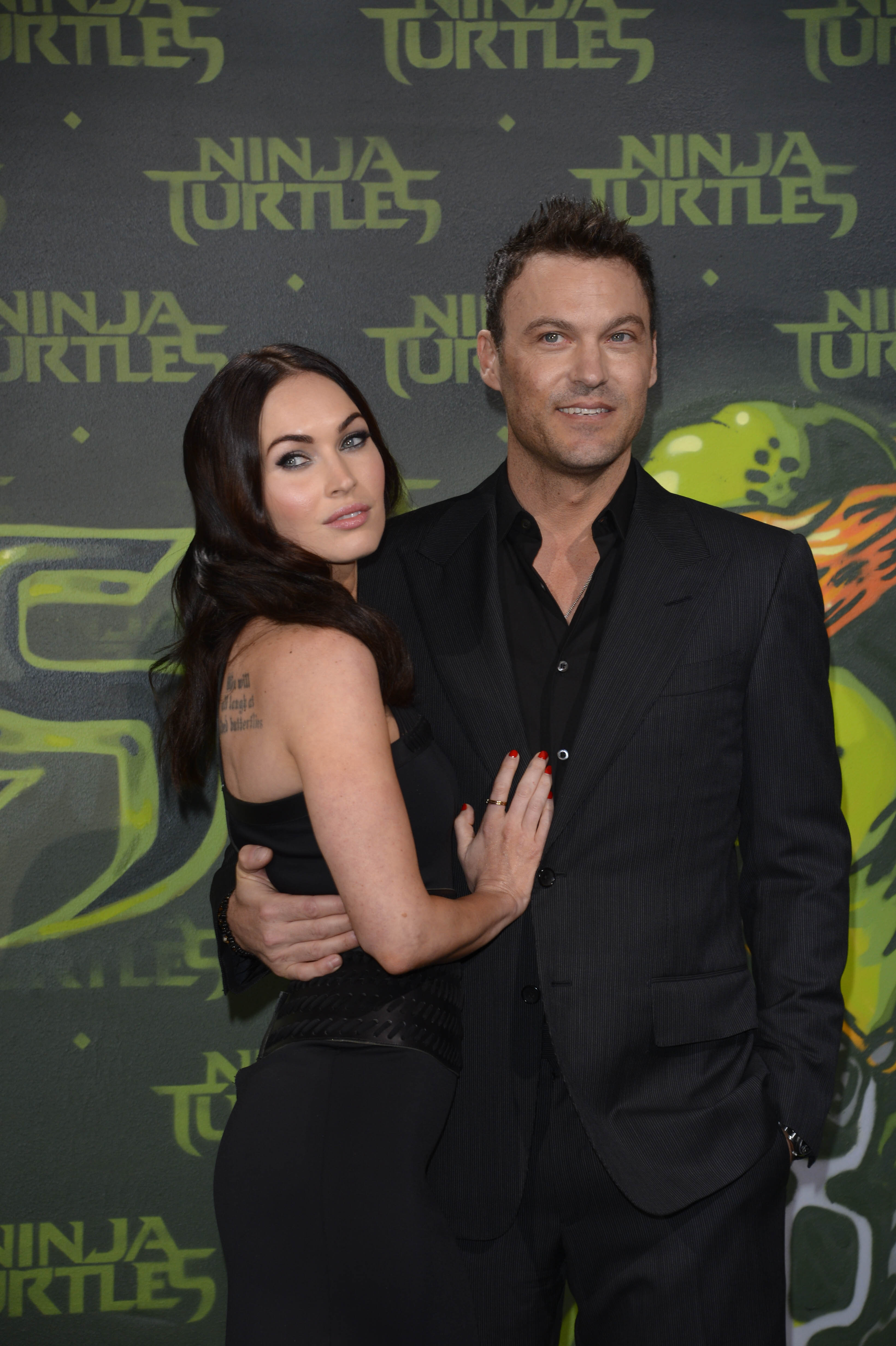 Megan Fox and Brian Austin Green attend the Berlin premiere of the film 'Teenage Mutant Ninja Turtles' / Photo:Getty Images
