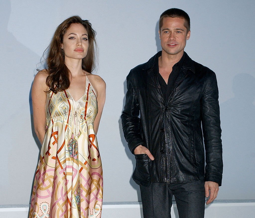 Image Credit: Getty Images / Angelina Jolie and Brad Pitt at the ShoWest 2005 - 20th Century Fox Luncheon.