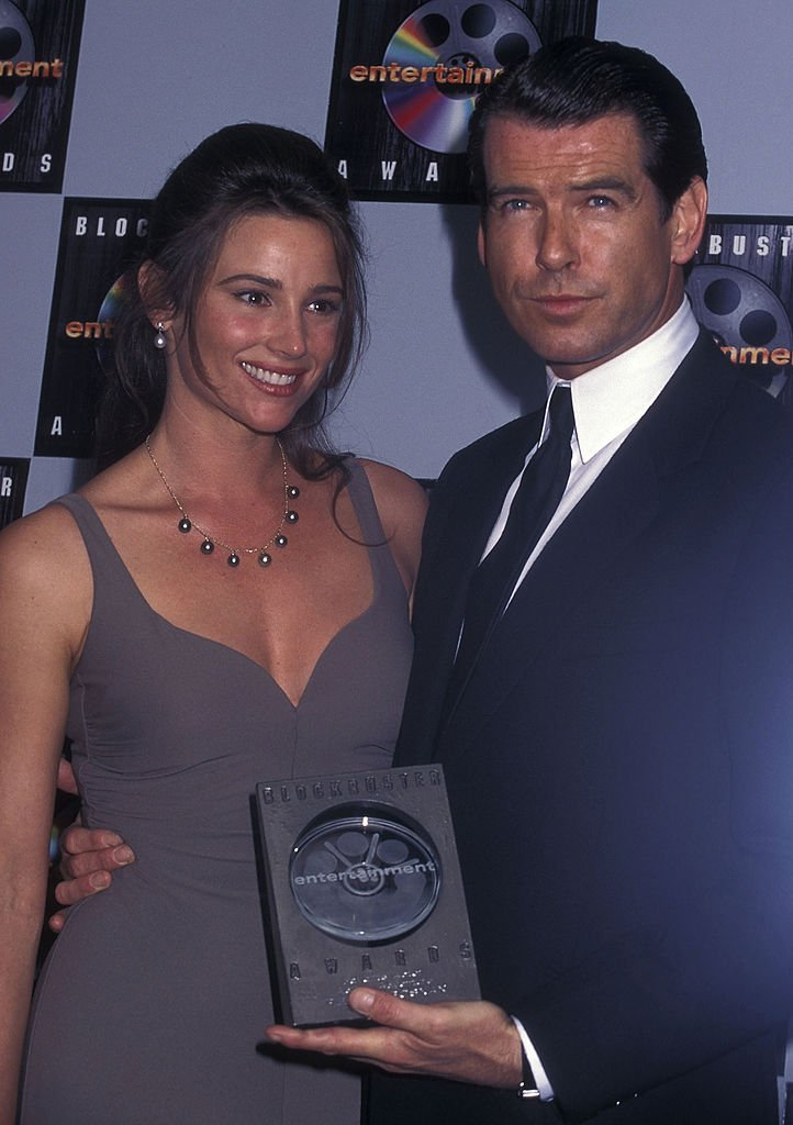 Image Source: Getty Images/Ron Galella Collection via Getty Images/Ron Galella, Ltd. | Brosnan & Shaye circa 1996