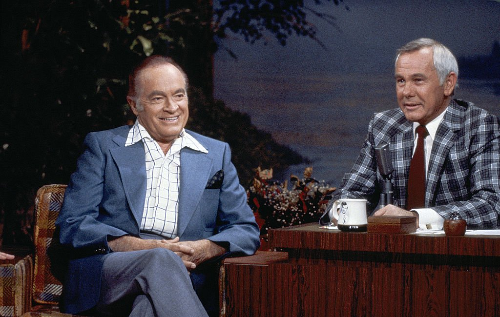 Image Credits: Getty Images / NBCU Photo Bank / NBCUniversal | Comedian Bob Hope during an interview with host Johnny Carson on September 5, 1980.