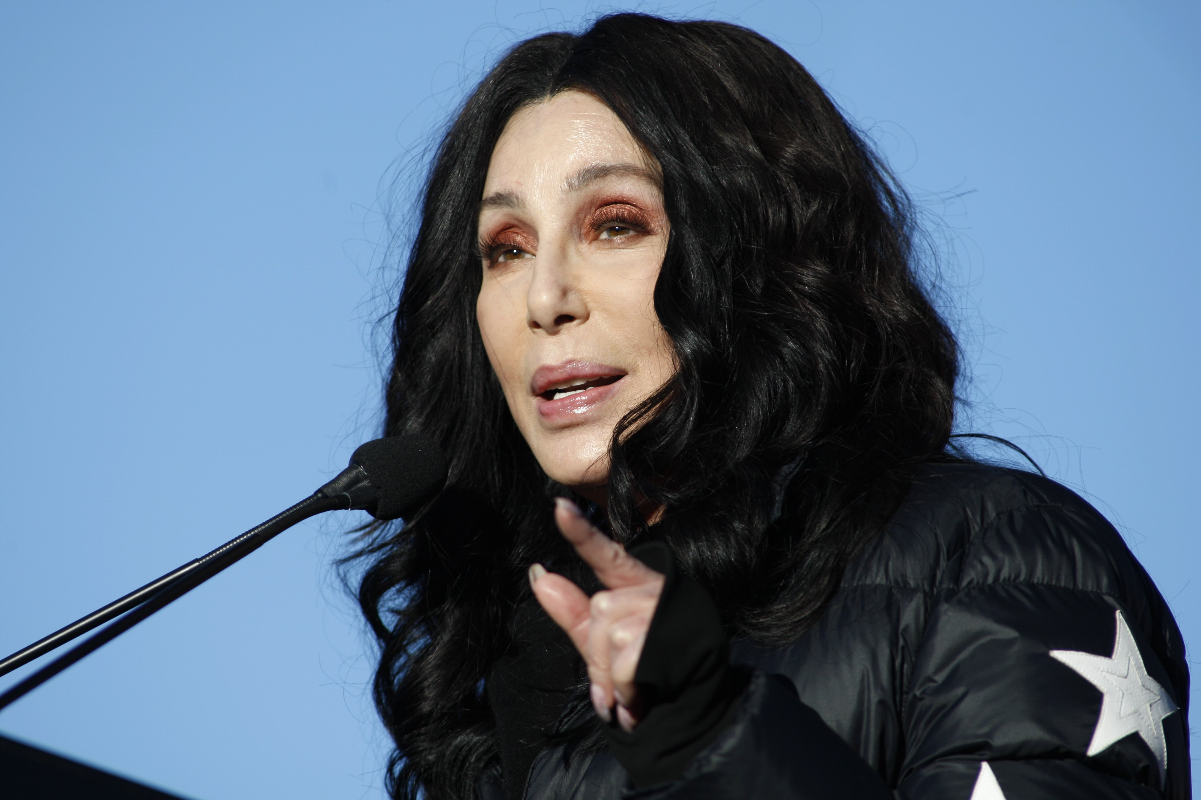 Image Source:Getty Images/Cher making a speech