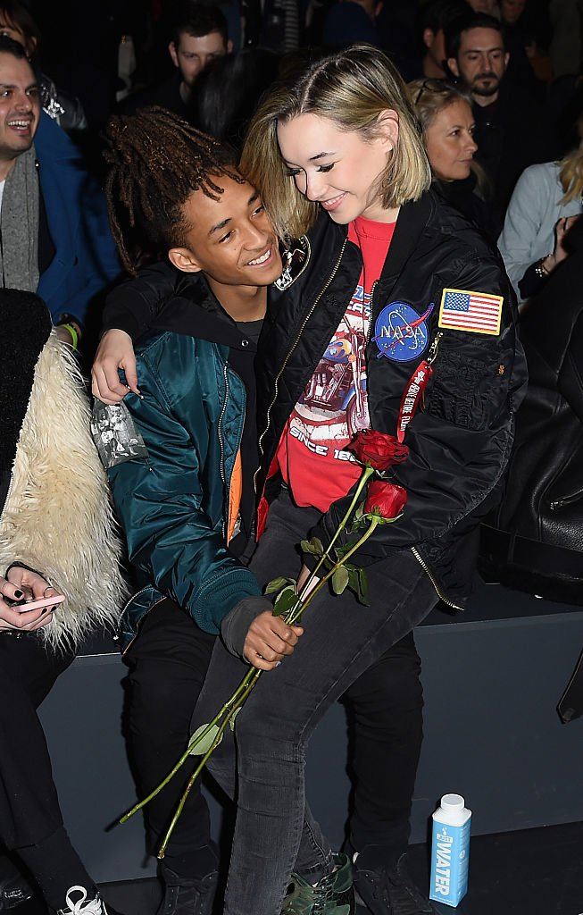 Image Credits: Getty Images / Nicholas Hunt | Sarah Snyder (R) and actor Jaden Smith attend the Hood By Air Fall 2016 fashion show during New York Fashion Week: The Shows at The Arc, Skylight at Moynihan Station on February 14, 2016 in New York City.
