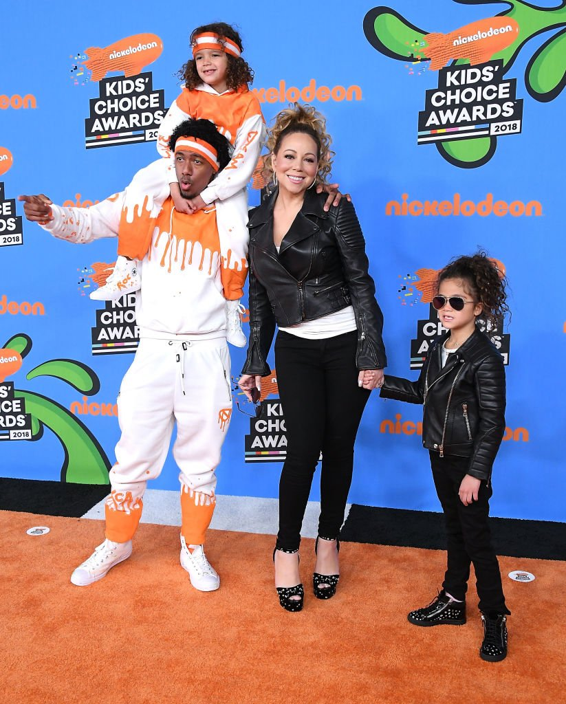 Image Source: Getty Images/Steve Granitz/Monroe Cannon, Mariah Carey, Nick Cannon, and Moroccan Scott Cannon arrives at the Nickelodeon's 2018 Kids' Choice Awards at The Forum on March 24, 2018