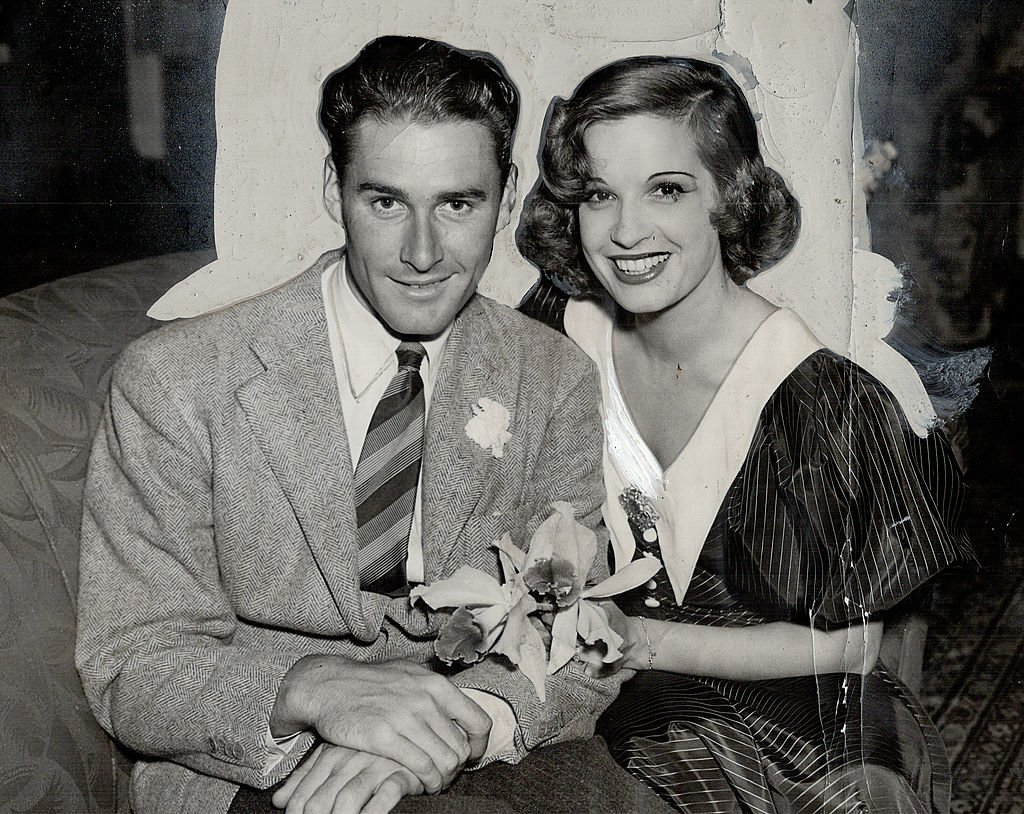 Image Source: Getty Images / Errol Flynn; a new favorite of the film fans; with his wife Lili Damita; the popular actress.