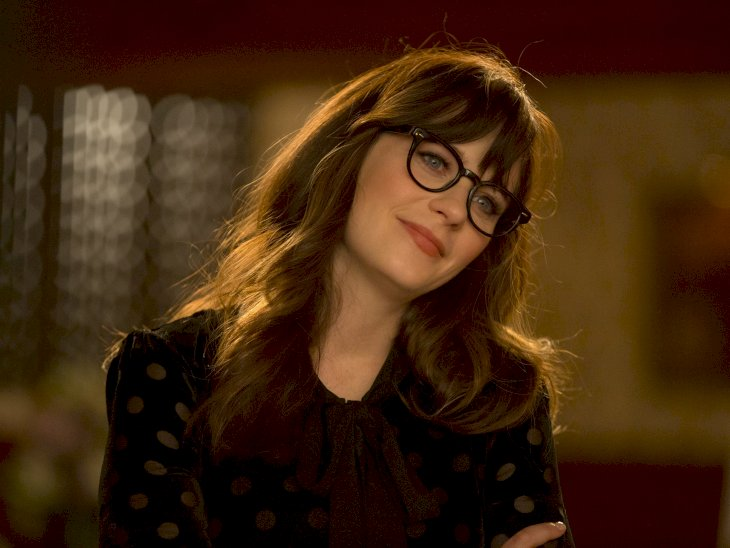 Image Credit: Getty Images / Zooey Deschanel on set.