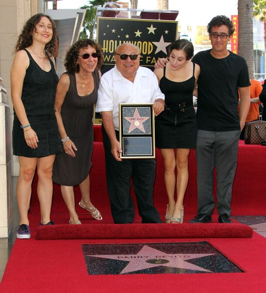 Image Source: Getty Images/The DeVito family at the Walk of Fame