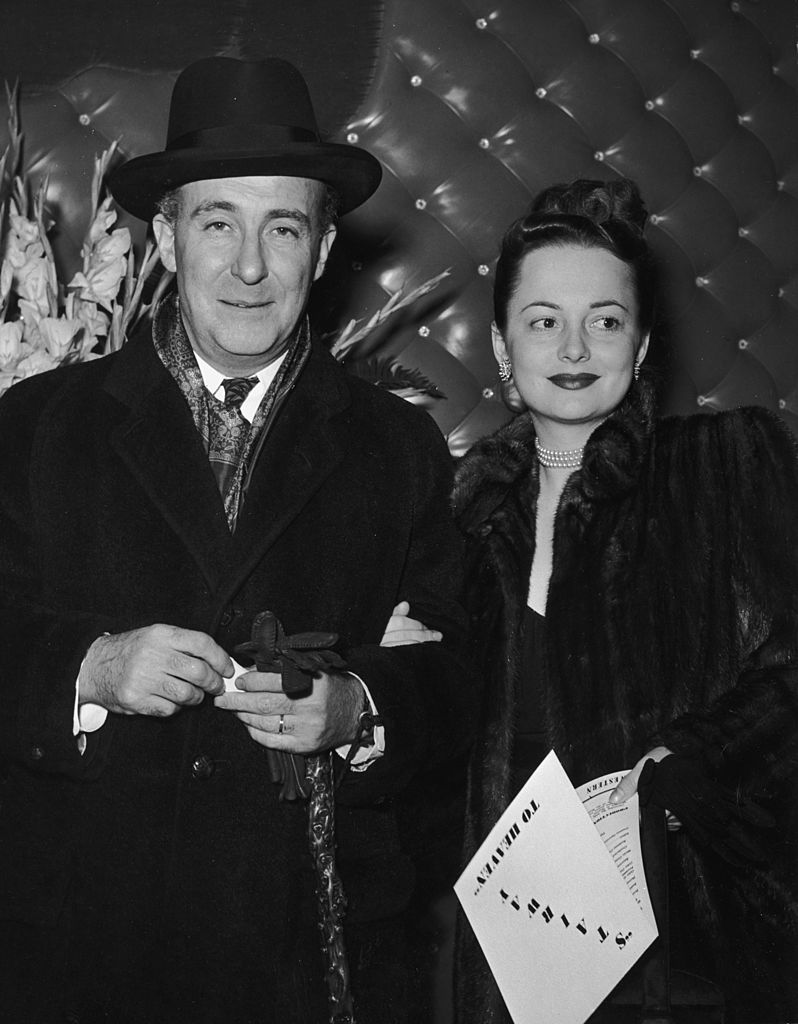 Image Credits: Getty Images / Hulton Archive | Olivia de Havilland and her husband, Marcus Goodrich