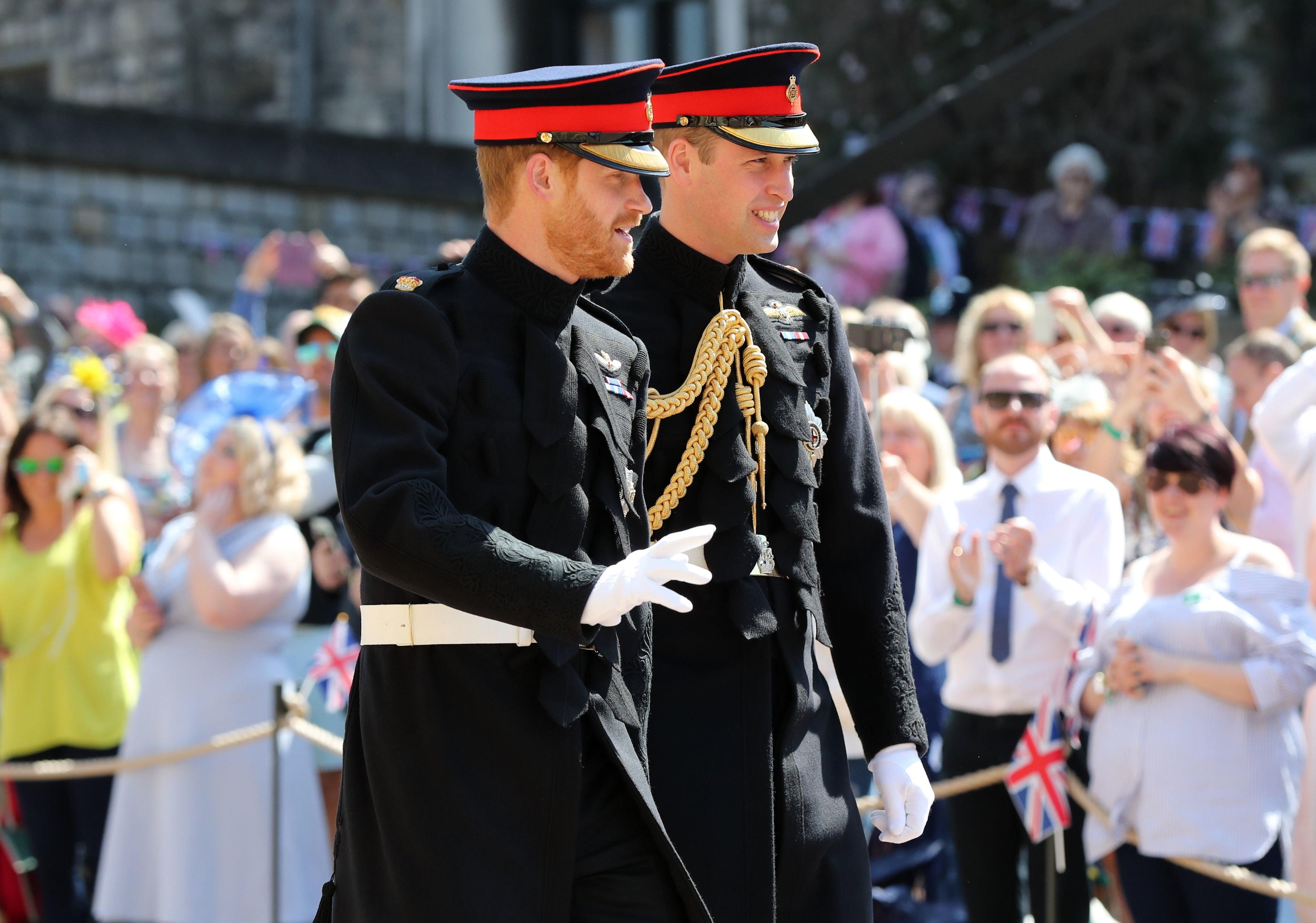 Image Credits: Getty Images / Gareth Fuller - WPA Pool   Prince Harry walks with his best man, Prince William, Duke of Cambridge as they arrive at St George's Chapel at Windsor Castle before the wedding of Prince Harry to Meghan Markle on May 19, 2018 in Windsor, England.