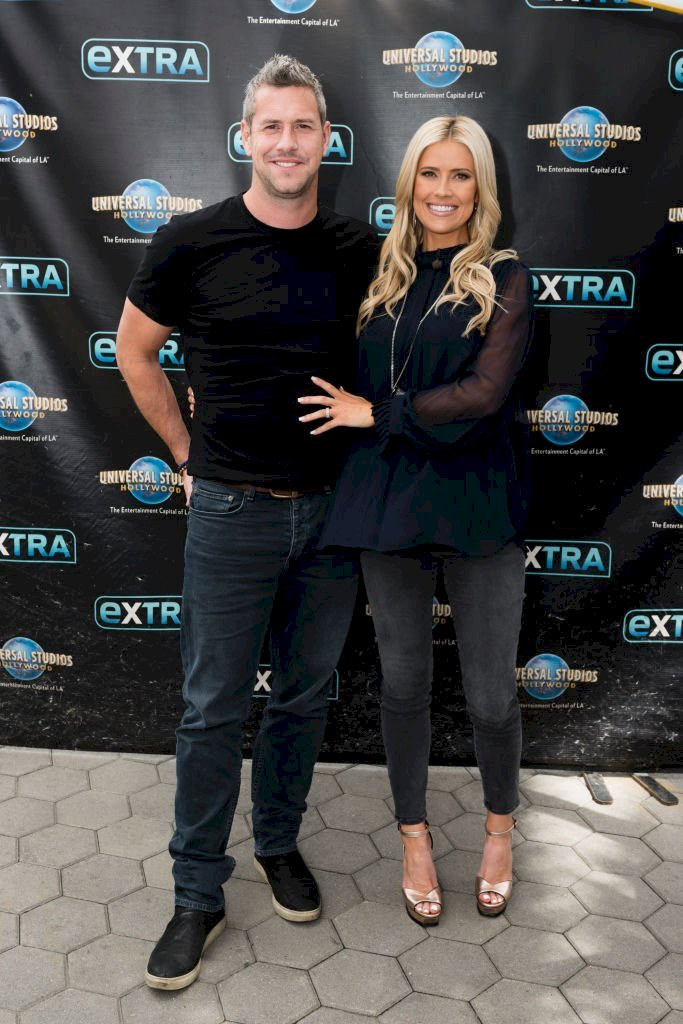 "Image Credit: Getty Images/Noel Vasquez |  Ant Anstead and Christina Anstead visit ""Extra"" at Universal Studios Hollywood"