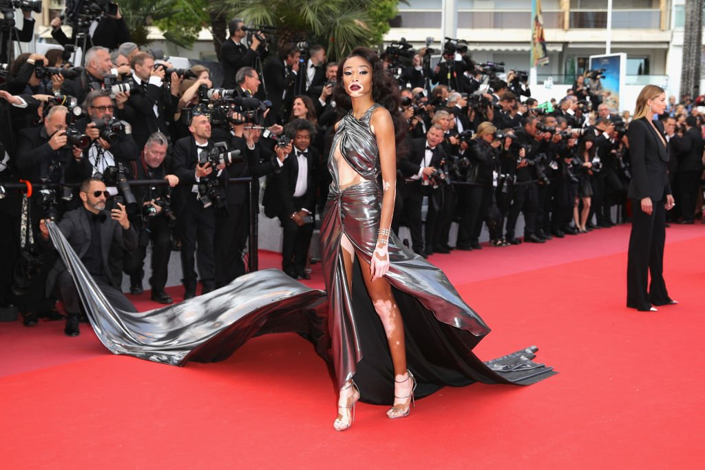 """Image Credits: Getty Images / Andreas Rentz   Winnie Harlow attends the screening of """"Solo: A Star Wars Story"""" during the 71st annual Cannes Film Festival at Palais des Festivals on May 15, 2018 in Cannes, France."""