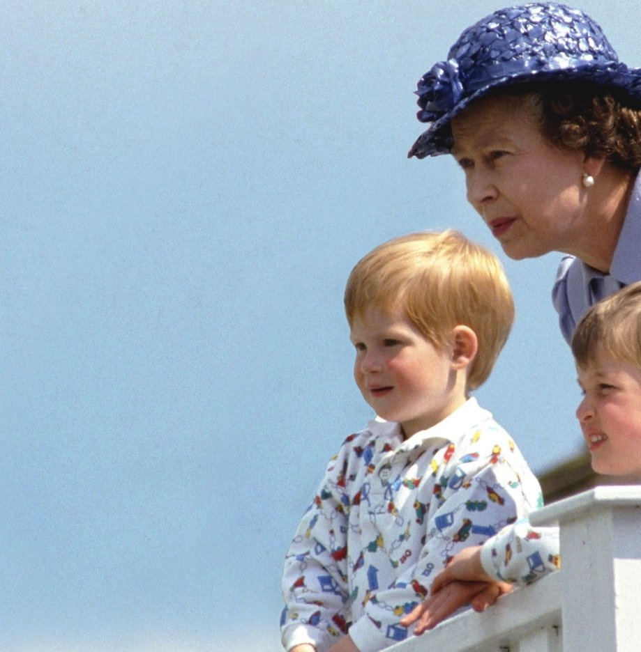 Image Credit: Getty Images/The Queen with her two grandsons