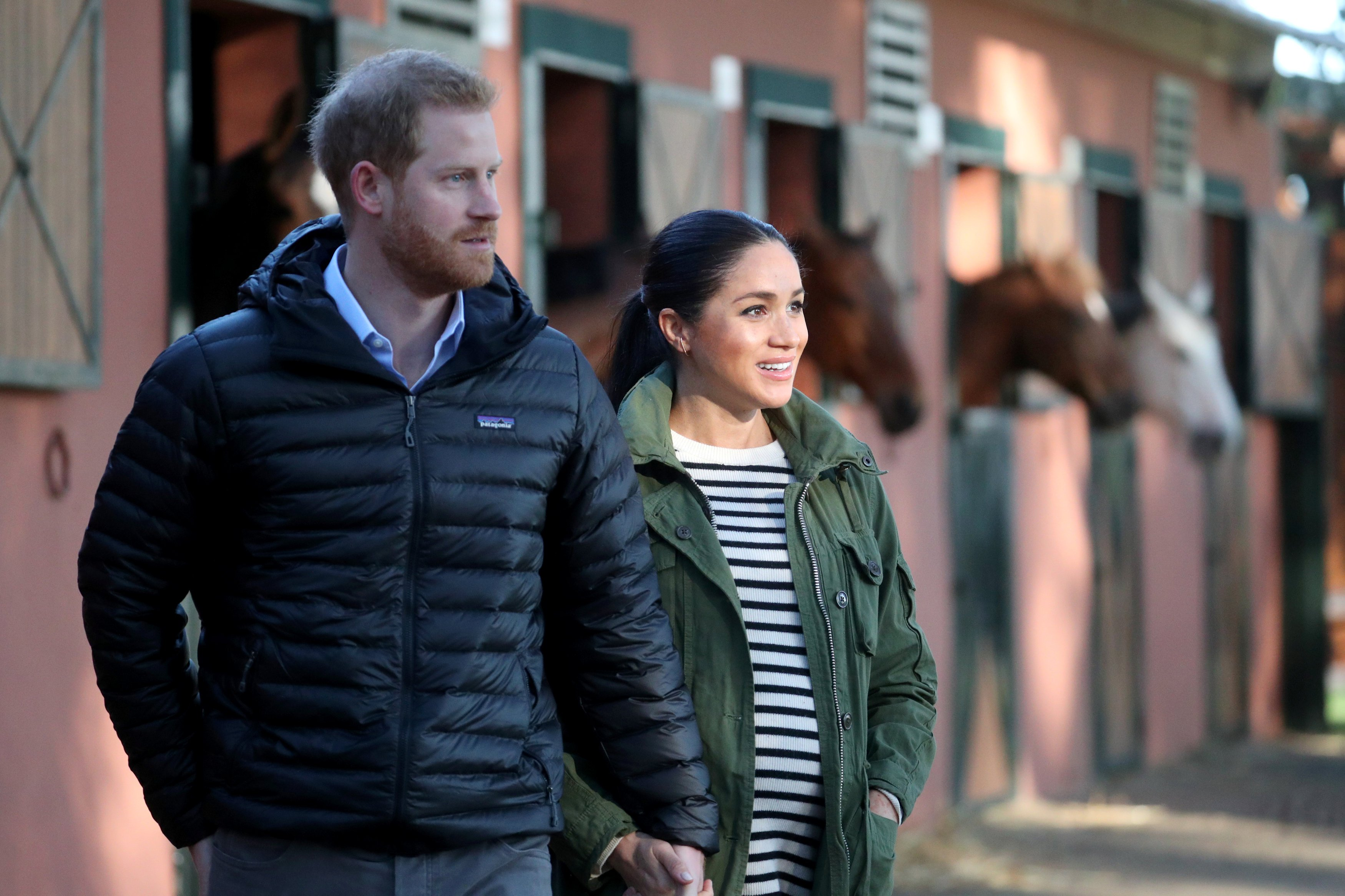 Image Credits: Getty Images / Hannah Mckay - Pool | Prince Harry, Duke of Sussex and Meghan, Duchess of Sussex visit the Moroccan Royal Federation of Equitation Sports on February 25, 2019 in Rabat, Morocco.