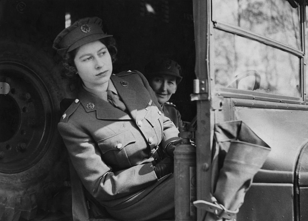 Image Credit: Getty Images / Princess Elizabeth (now Queen Elizabeth II) driving an ambulance during her wartime service in the A.T.S, on 10th April 1945.