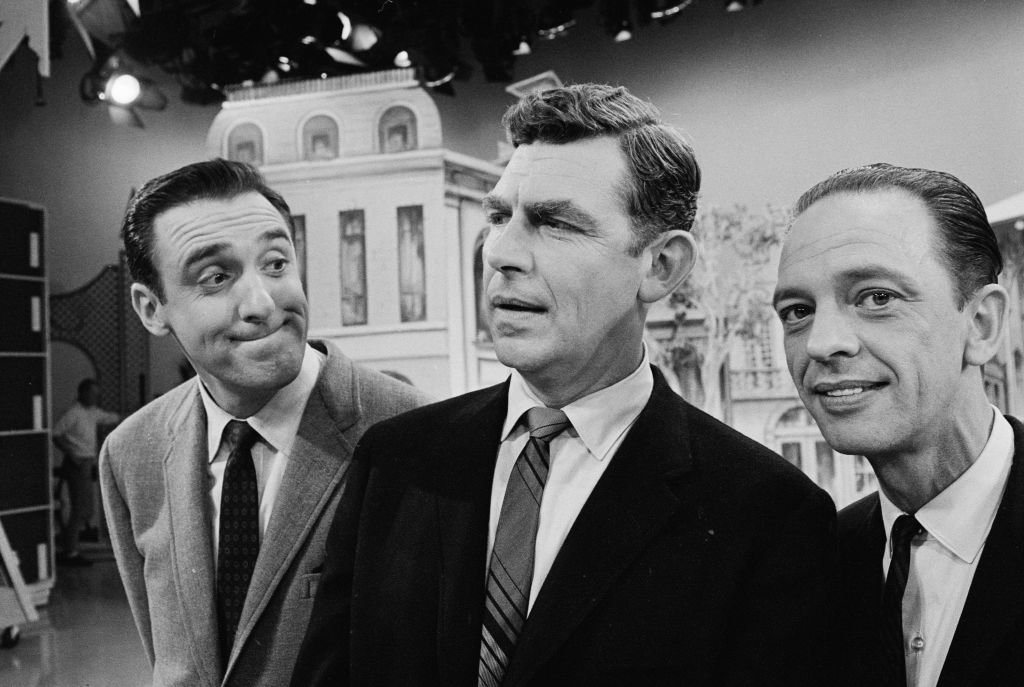 Image Source: Getty Images/CBS Photo Archive| From left, American television actors Jim Nabors, Andy Griffith, and Don Knotts appear together on the set of a television show, September 12, 1965