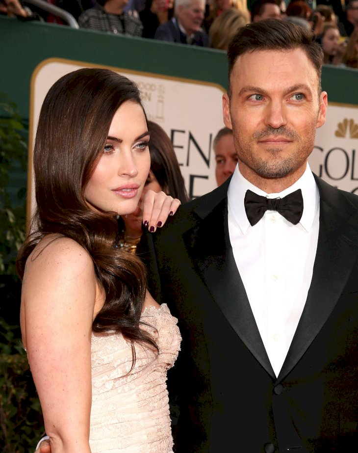 Megan Fox and Brian Austin Green arrive to the 70th Annual Golden Globe Awards / Getty Images