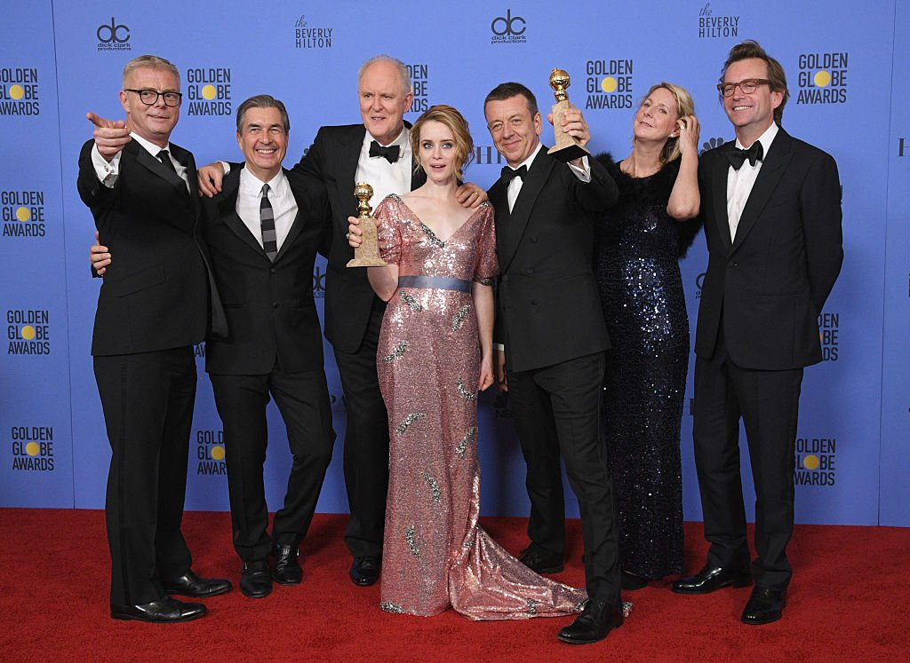 Image Credits: Getty Images / Kevork Djansezian / NBCU Photo Bank / NBCUniversal | The cast and creators of 'The Crown' pose with the Best Performance by an Actress in a Television Series / Drama and Best Television Series / Drama awards in the press room at the 74th Annual Golden Globe Awards held at the Beverly Hilton Hotel on January 8, 2017.