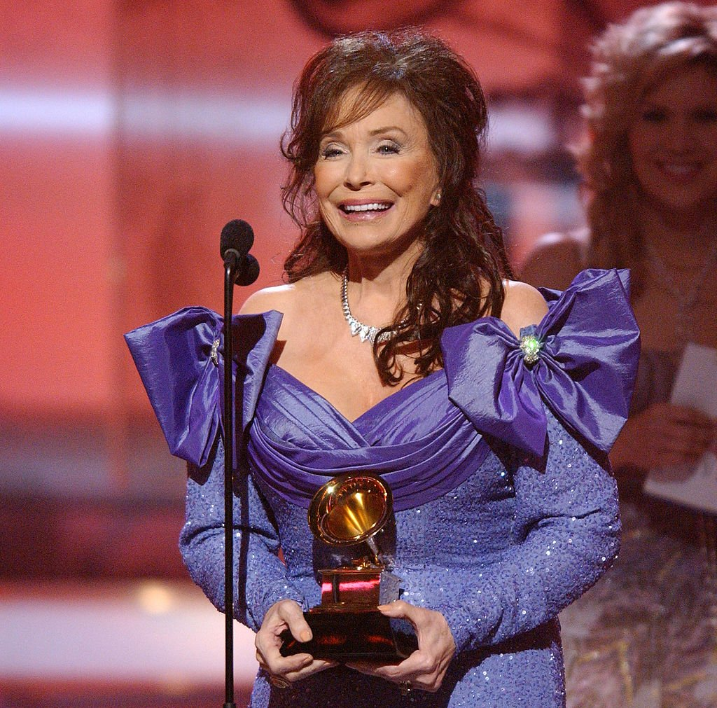 "Image Credit: Getty Images / Loretta Lynn, winner for Best Country Album for ""Van Lear Rose."""