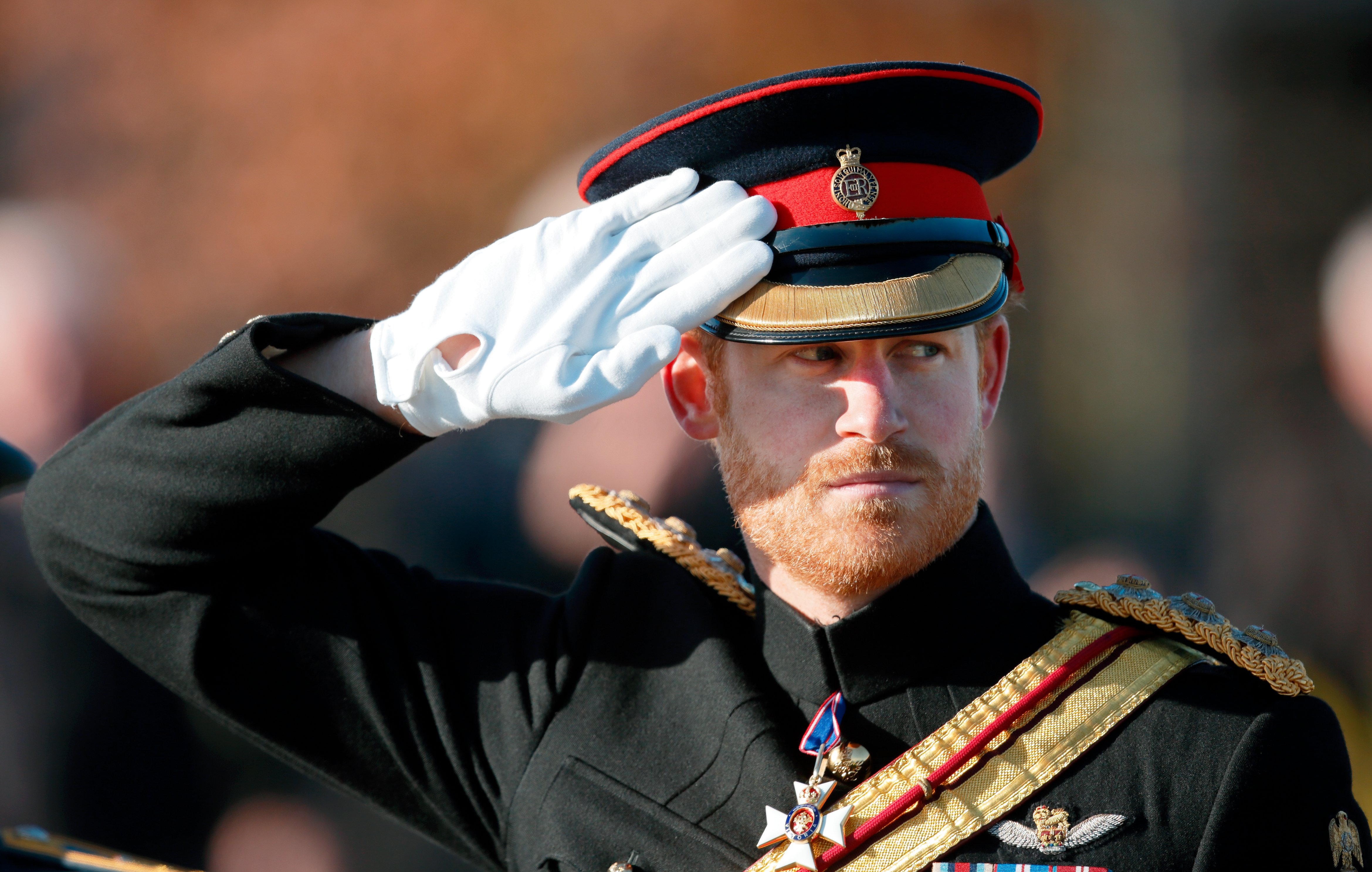 Image Credits: Getty Images / Max Mumby / Indigo   Prince Harry attends the Armistice Day Service at the National Memorial Arboretum on November 11, 2016 in Alrewas, England.