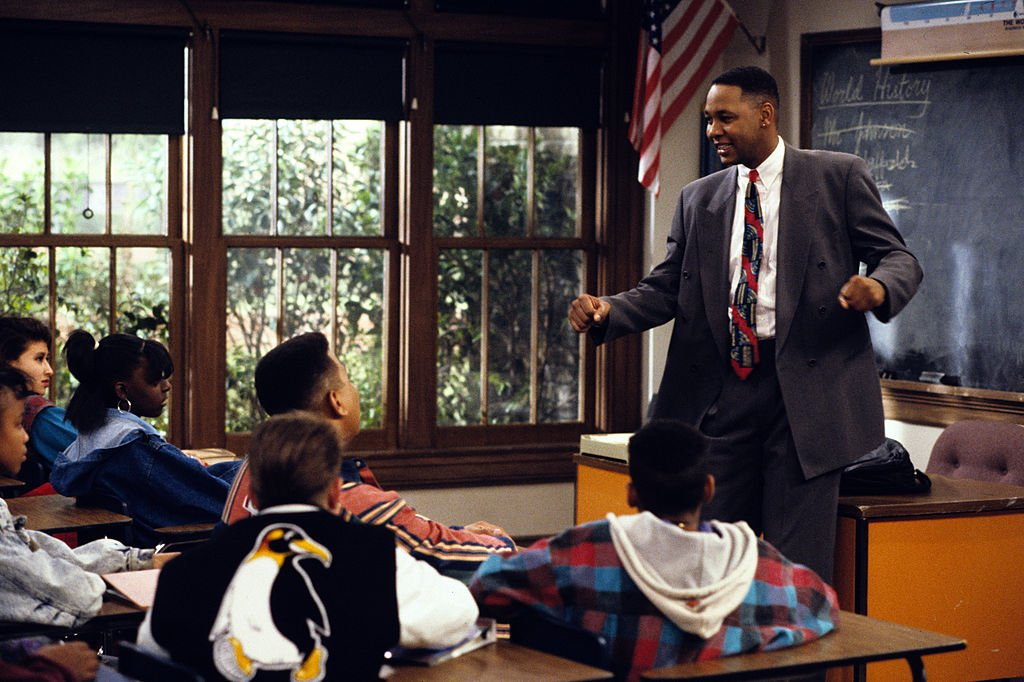 "Image Credits: Getty Images / Walt Disney Television | Mark Curry (as Mr. Cooper) stars in the T.V series ""Hanging with Mr. Cooper."" A single high school teacher and basketball coach living in Oakland, California."