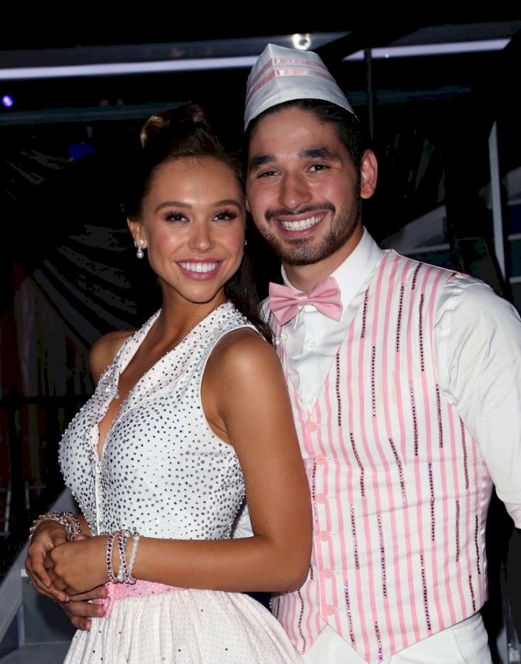 Image Credit: Getty Images/David Livingston |  Alexis Ren and Alan Bersten who admitted their feelings for each other on screen in season 27