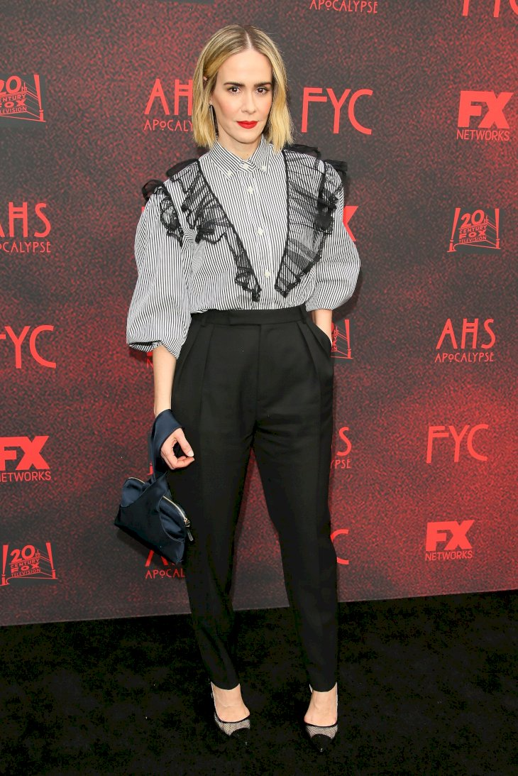 """Sarah Paulson attends the FYC red carpet for FX's """"American Horror Story: Apocalypse"""" / Photo:Getty Images"""