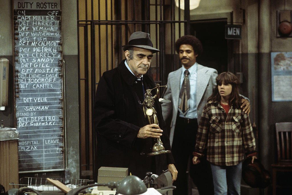 Image Credit: Getty Images / Abe Vigoda, Ron Glass, Denise Miller on set for Barney Miller.