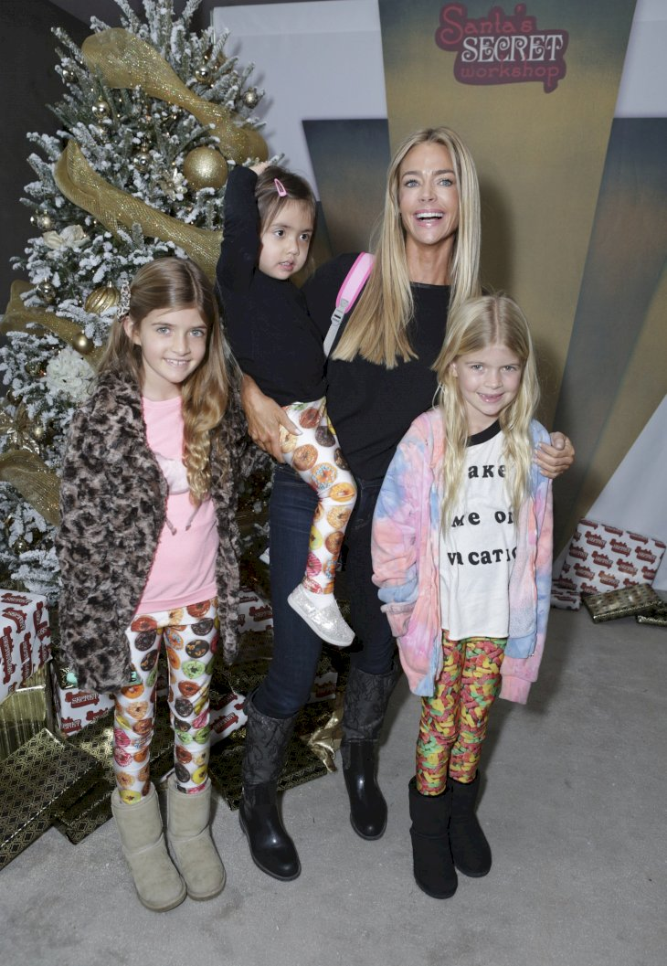 Image Credit: Getty Images / Denise Richards at an event with her children.