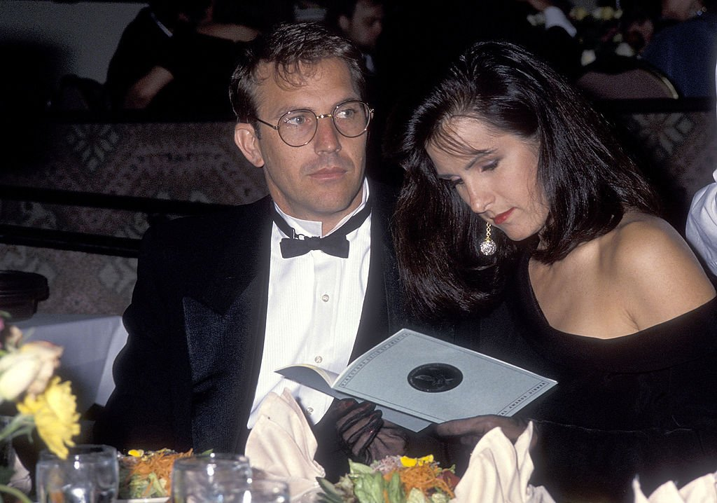Image Credit: Getty Images / Actor Kevin Costner and wife Cindy Costner attend the 43rd Annual Directors Guild of America Awards on March 16, 1991 at the Beverly Hilton Hotel.
