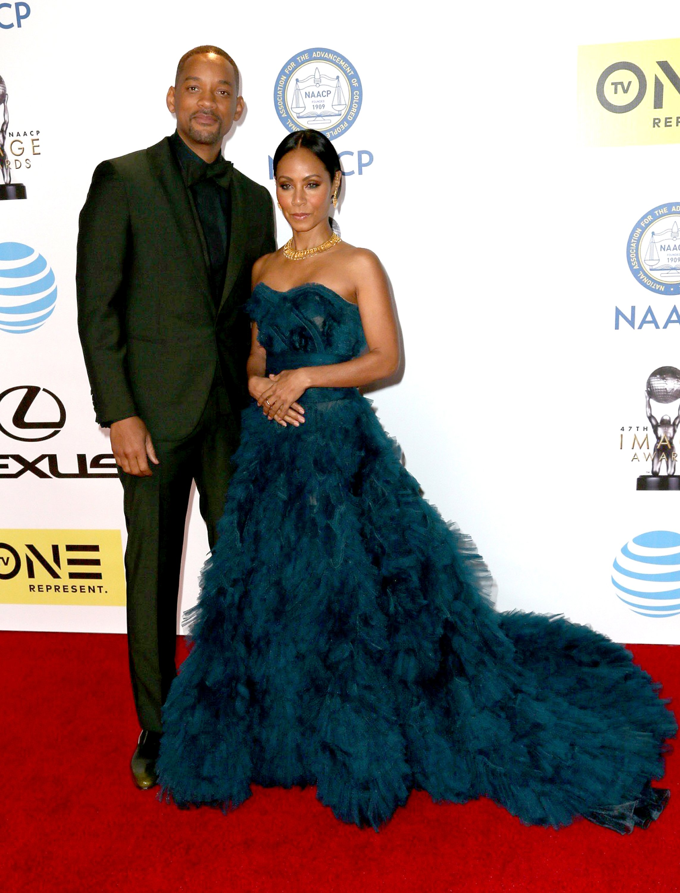 Image Credits: Getty Images / David Livingston | Actor Will Smith (L) and actress Jada Pinkett Smith attend the 47th NAACP Image Awards presented by TV One at Pasadena Civic Auditorium on February 5, 2016 in Pasadena, California.