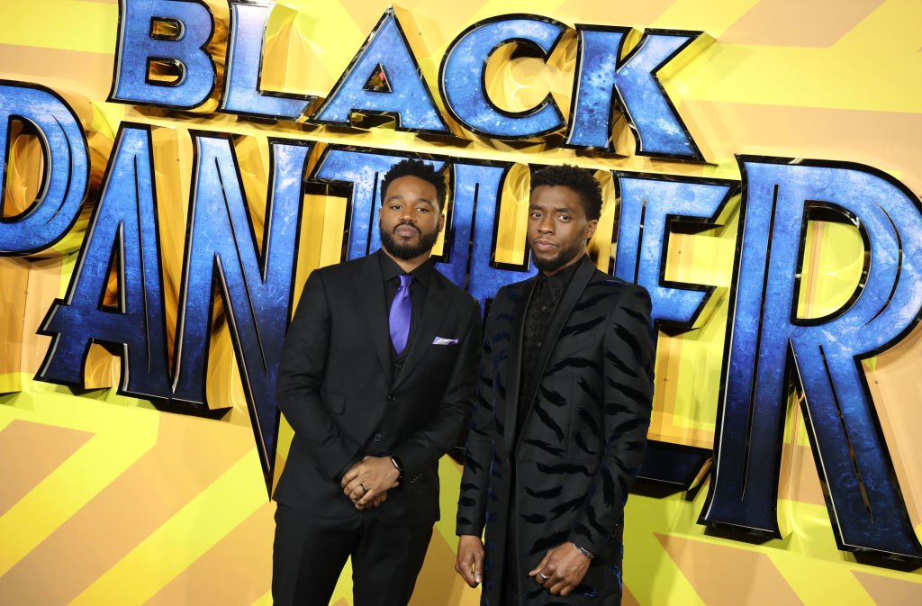 Image Credits: Getty Images / Mike Marsland / WireImage | Chadwick Boseman and Ryan Coogler attend the European Premiere of 'Black Panther' at Eventim Apollo on February 8, 2018 in London, England.