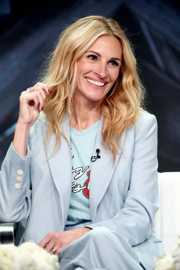 Image Source: Getty Images/Frederick M. Brown/Actor Julia Roberts of 'Homecoming' speaks onstage during the Amazon Studios portion of the Summer 2018 TCA Press Tour at The Beverly Hilton Hotel on July 28, 2018 in Beverly Hills, California