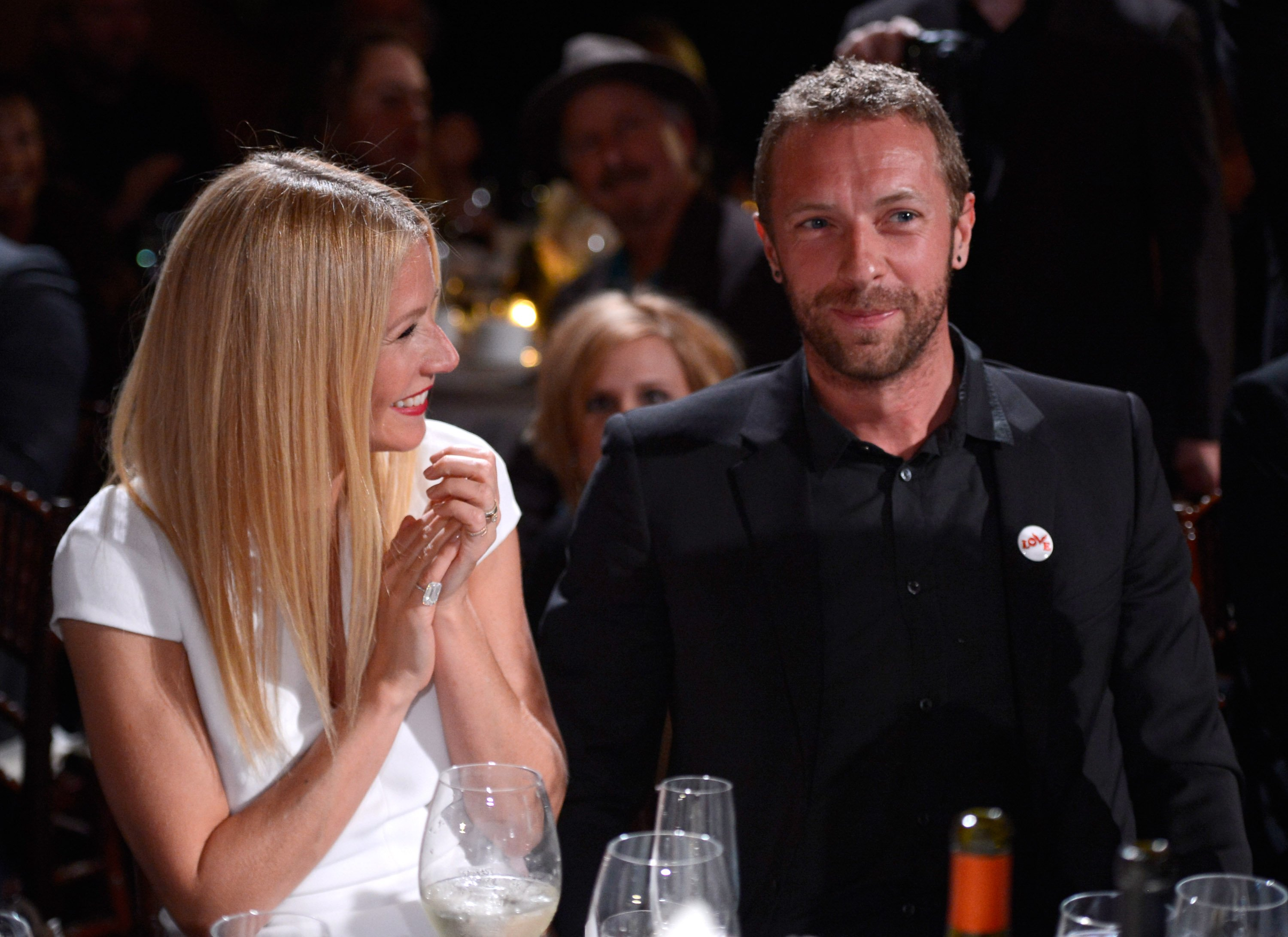Image Credits: Getty Images / Kevin Mazur | Gwyneth Paltrow and Chris Martin attend the 3rd annual Sean Penn & Friends HELP HAITI HOME Gala benefiting J/P HRO presented by Giorgio Armani at Montage Beverly Hills on January 11, 2014 in Beverly Hills, California.