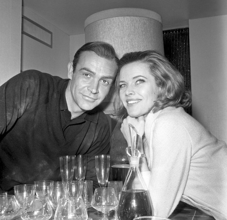 Image Credit: Getty Images / Honor Blackman with her James Bond, Sean Connery.