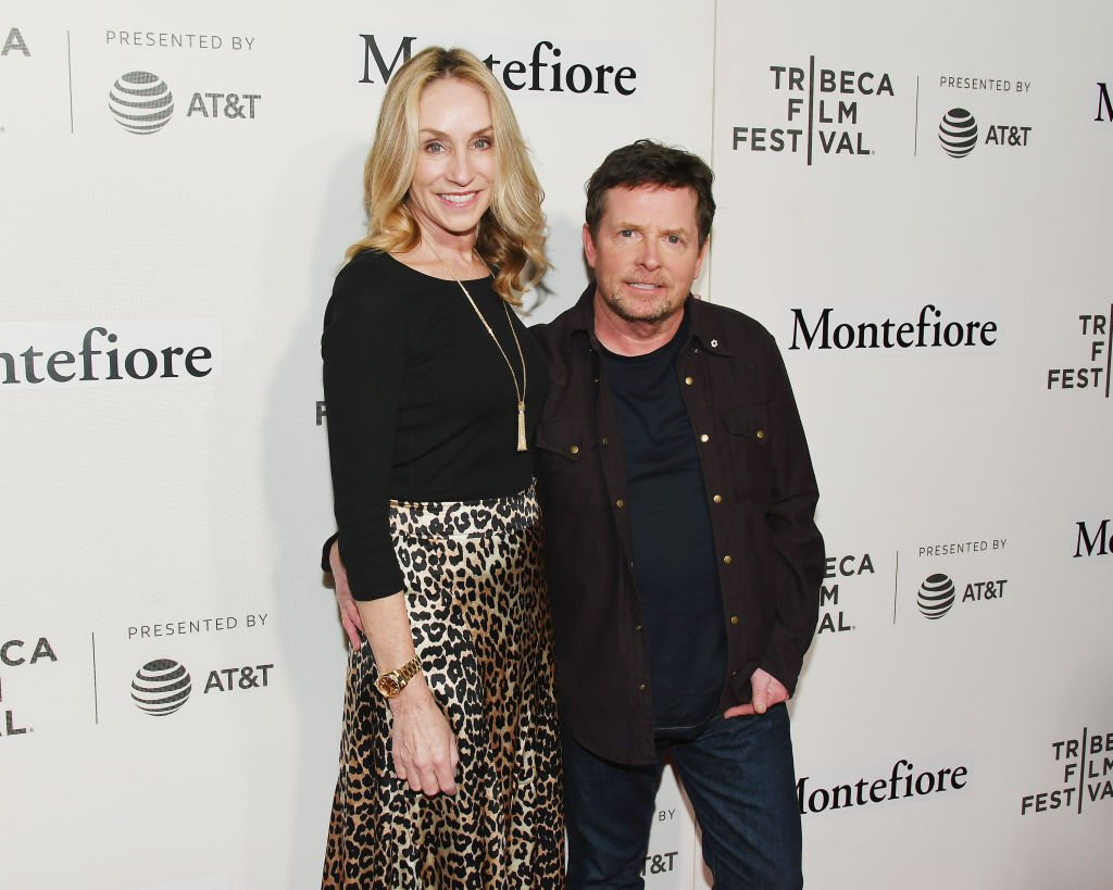 Image Credit: Getty Images / Tracy Pollan and Michael J. Fox attend red carpet for the Tribeca Talks - Storytellers - 2019 Tribeca Film Festival at BMCC Tribeca PAC on April 30, 2019.