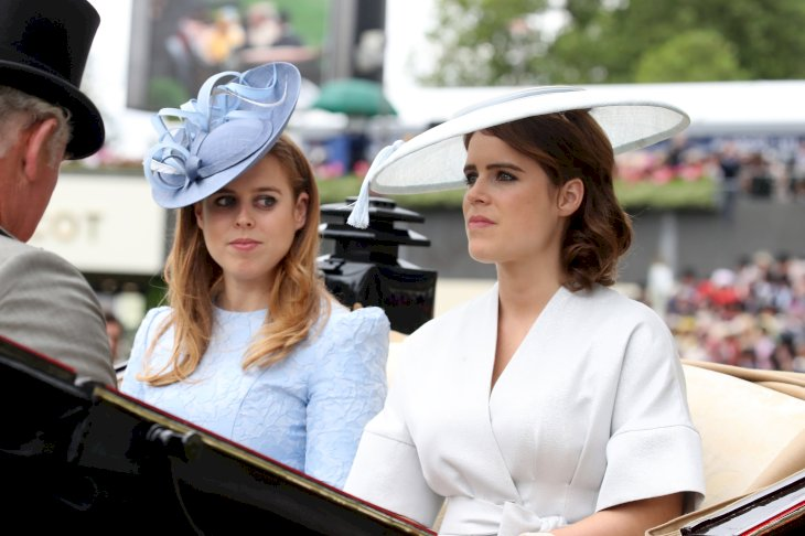 Image Credit: Getty Images / Princess Eugenie with her older sister, Princess Beatrice.