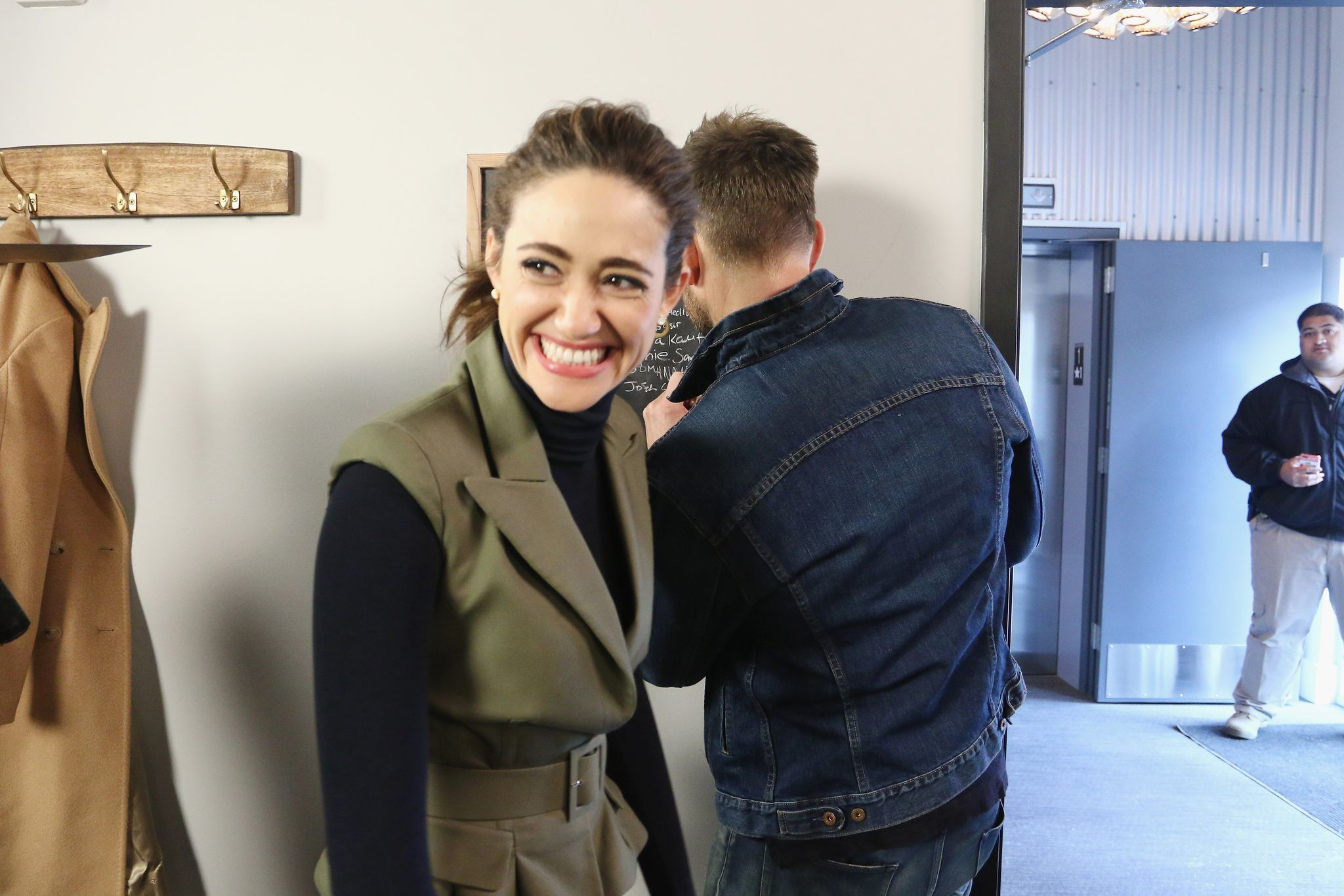Emmy Rossum was pranked by her co-stars / Getty Images