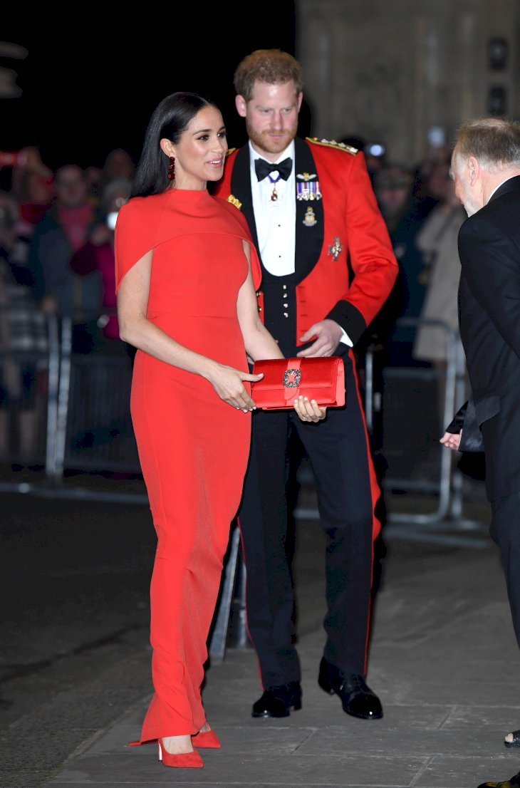 Image Credit: Getty Images / The Duke and Duchess of Sussex at the 2020 Mountbatten Festival of Music.
