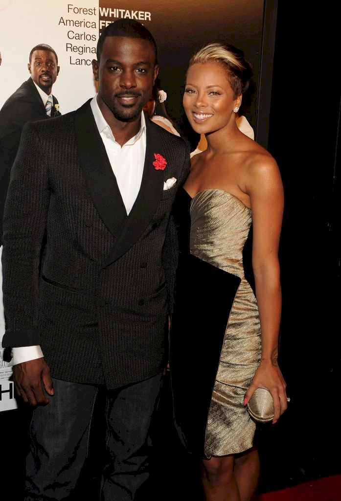 "Image Credit: Getty Image/WireImage/Theo Wargo | Lance Gross and Eva Marcille attend the premiere of ""Our Family Wedding"""