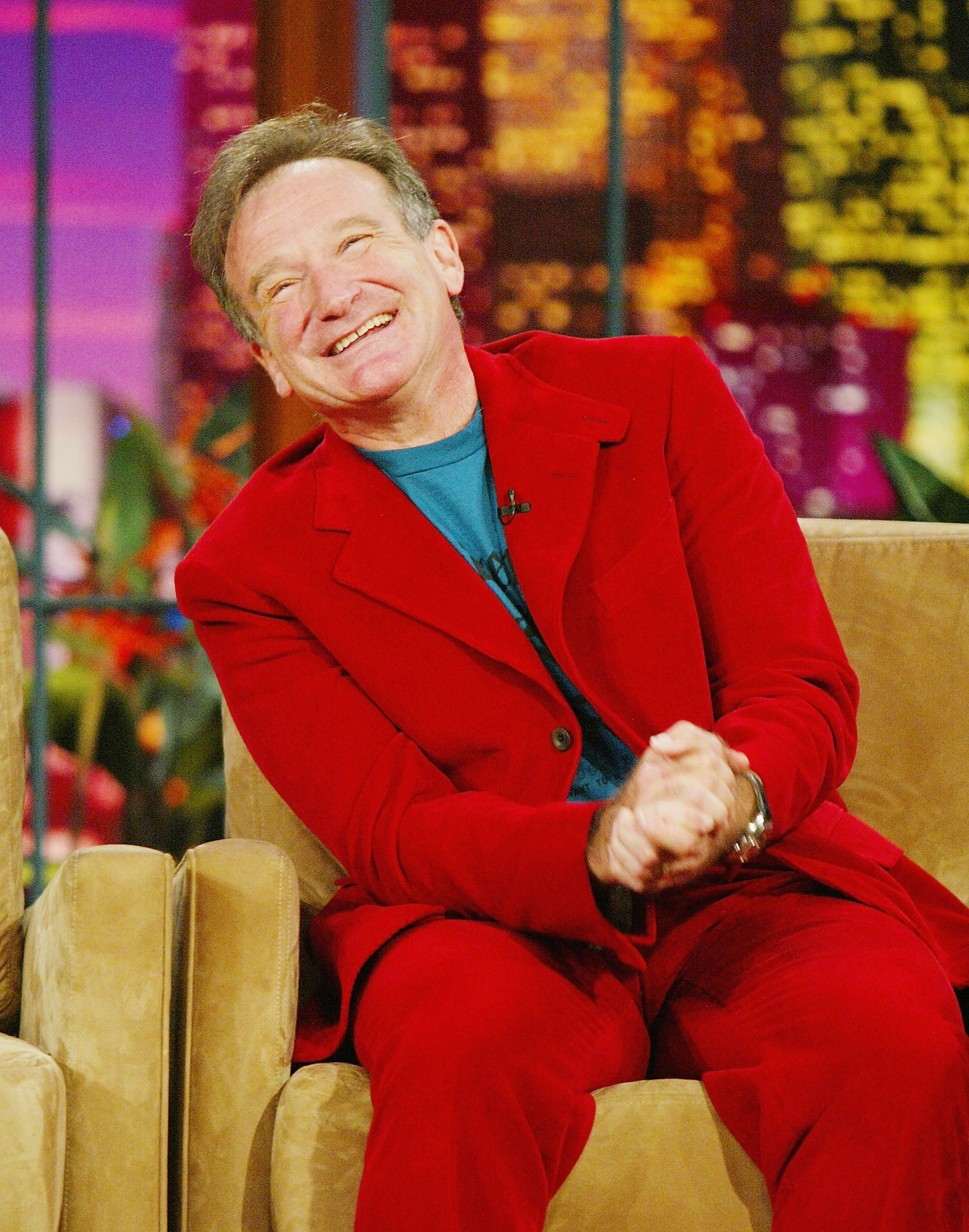"Image Credits: Getty Images / Kevin Winter | Comedian/actor Robin Williams appears on ""The Tonight Show with Jay Leno"" at the NBC Studios on October 14, 2004 in Burbank, California."