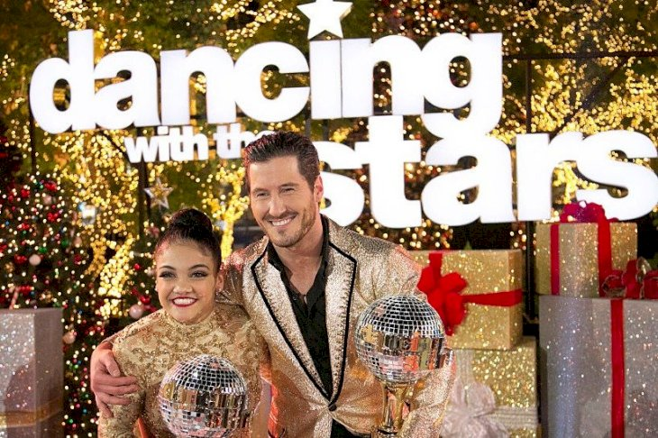 Image Credit: Getty Images/Walt Disney Television via Getty Images/Kelsey McNeal | Laurie Hernandez and Valentin Chmerkovskiy, winners of DWTS season 23