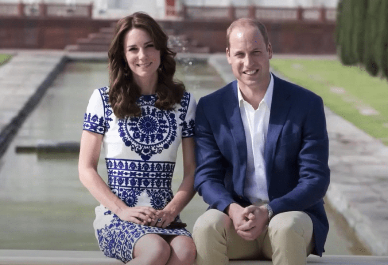 Image Source: Youtube/Entertainment Tonight| Prince Harry and the Duchess at Taj Mahal